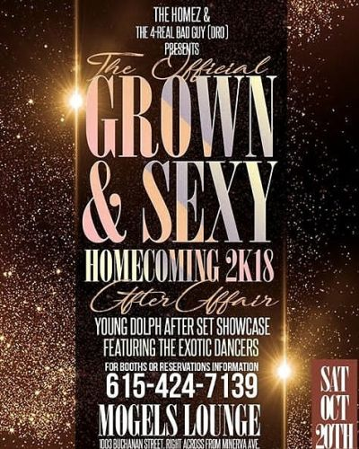 THE OFFICIAL GROWN & SEXY HOMECOMING 2K18 AFTER AFFAIR